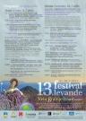 13. Festival levande- program